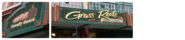 Grass Roots Books Music