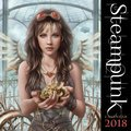 Cover image for 2018 Steampunk Square Flame Tree Calendar